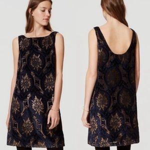 Loft   Mystic Velvet Swing Dress